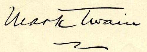 Mark Twain signature at Chicago Motivational Humorous Keynote speaker website