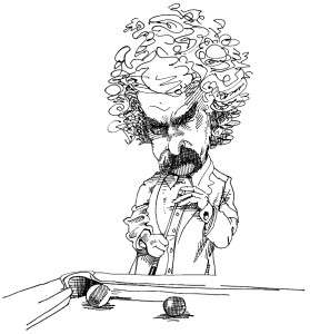 The Humorous Motivational Speaker Mark Twain Chalking it up