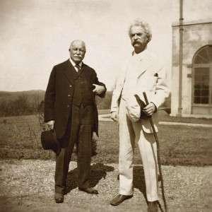 Mark Twain with good friend William Dean Howells 1909