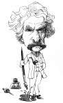 Twain with pen by Mark Anderson